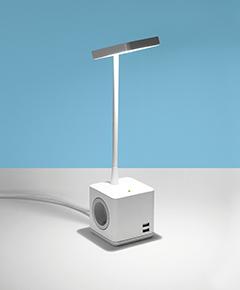 Schreitischlampe Cubert